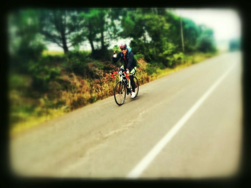 Giant TCR SL1 ile Kurtdoğmuş Köyü mevkiinde pedalarken