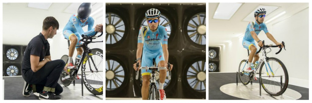 Aru, takımı Astana'nın bisiklet sponsoru Specialized'ın Morgan Hill, California'da konuşlu genel merkezindeki Wind Tunnel'de gelecek sene için çalışmalar yaparken.