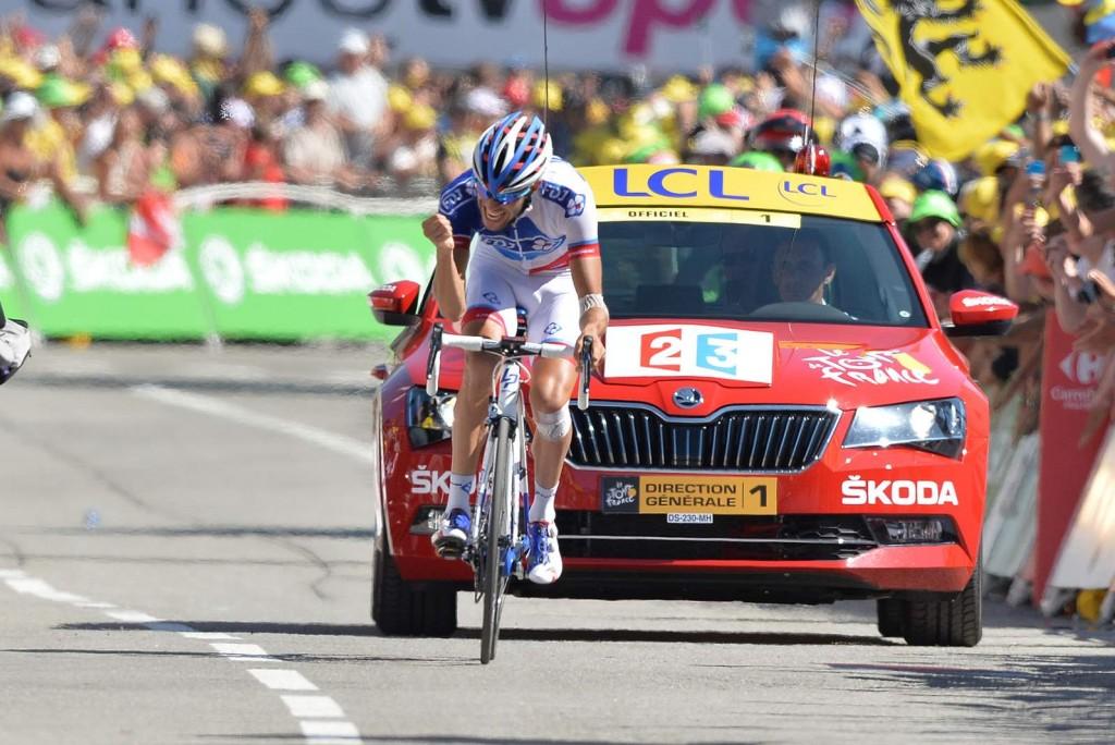 25 July 2015 102nd Tour de France Stage 20 : Modane Valfrejus - Alpe-d'Huez 1st : PINOT Thibaut (FRA) FDJ Photo : Yuzuru SUNADA