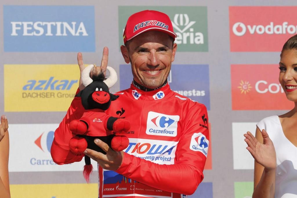 7 September 2015 70th Vuelta a Espana Stage 16 : Luarca - Ermita de Alba. Quiros RODRIGUEZ Joaquin (ESP) Katusha, Maillot Rojo Photo : Yuzuru SUNADA