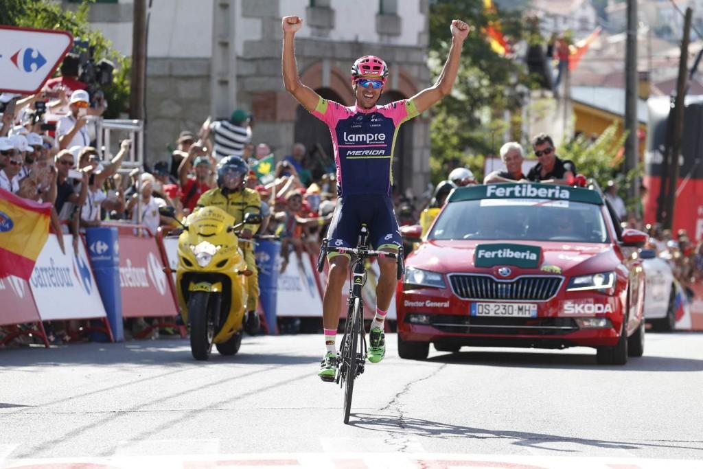 12 September 2015 70th Vuelta a Espana Stage 20 : San Lorenzo de El Escorial - Cercedilla 1st : PLAZA Ruben (ESP) Lampre - Merida Photo : Yuzuru SUNADA