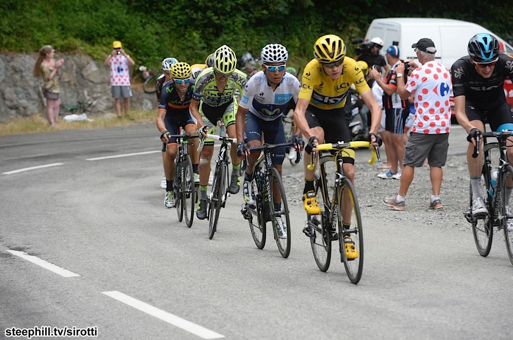 2015, Tour de France, tappa 19 Saint Jean de Maurienne - La Toussuire, Team Sky 2015, Movistar 2015, Tinkoff - Saxo 2015, Froome Christopher, Quintana Rojas Nairo Alexander, Contador Alberto, La Toussuire